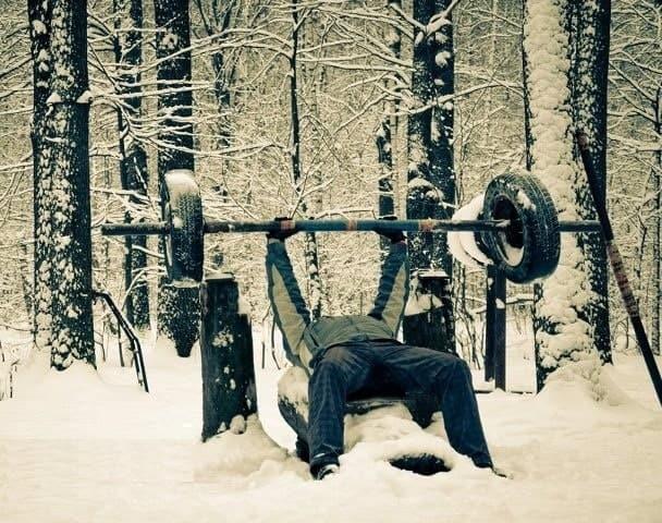 treinar no frio