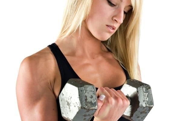 Mulheres também podem treinar pesado