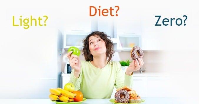 diferença entre DIET-LIGHT-ZERO
