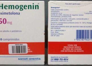 Hemogenin (oximetolona), O que é, para que serve, benefícios, excesso, efeitos colaterais e como tomar
