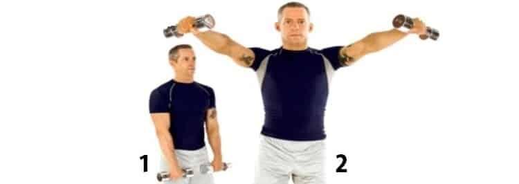 abdução no plano da escápula treino de ombros