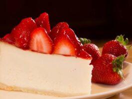 Receita de Cheesecake Light de Morango
