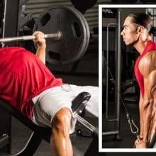 Treino de Peito e Triceps com Treino ABC