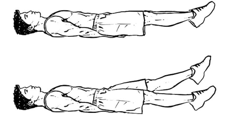 Treino para fortalecer o Core - Abdominais inferiores Tesoura