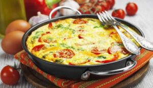 Receita de Omelete Low Carb