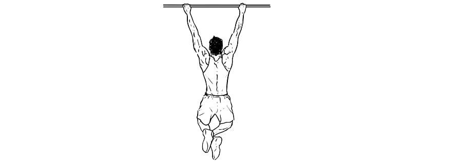 Exercícios para antebraços Suspensão na Barra