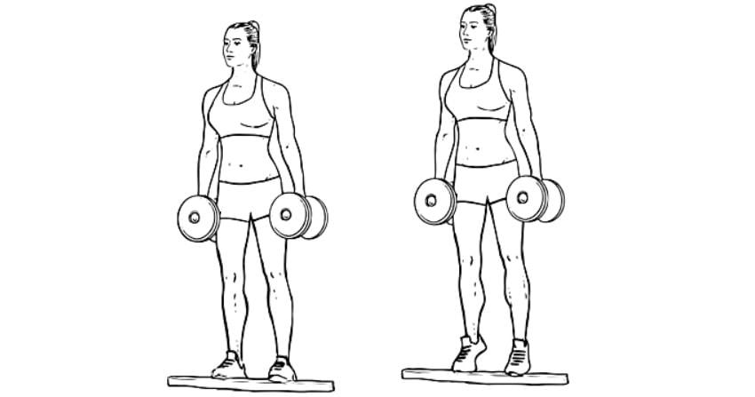 Exercícios para panturrilhas Gêmeos em Pé