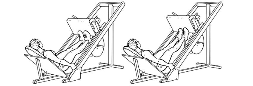 Exercícios para panturrilhas Leg Press para panturrilha