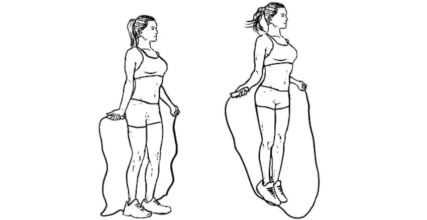 Exercícios para panturrilhas Pular Corda