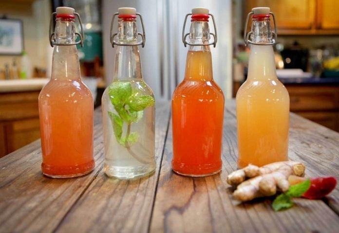 Suco natural com Água de Kefir
