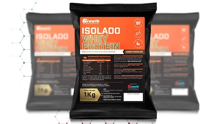 91fcf6930 Whey Protein Isolado Growth Supplements - REVIEW