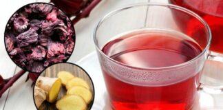 Chá de hibisco com gengibre para emagrecer