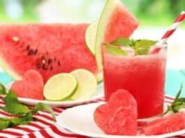 Benefícios do suco detox de melancia com gengibre para emagrecer