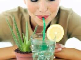 Receitas de suco detox de aloe vera com limão para emagrecer