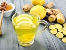Chá de limão com Gengibre para aumentar a Imunidade
