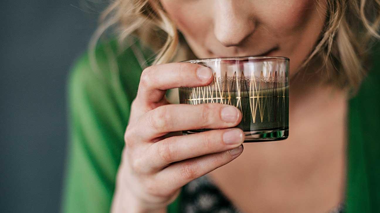 Suco Detox de Clorofila para limpar o Fígado