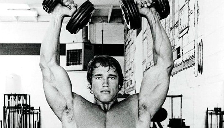 Treino de Ombros do Arnold Desenvolvimento com Halteres