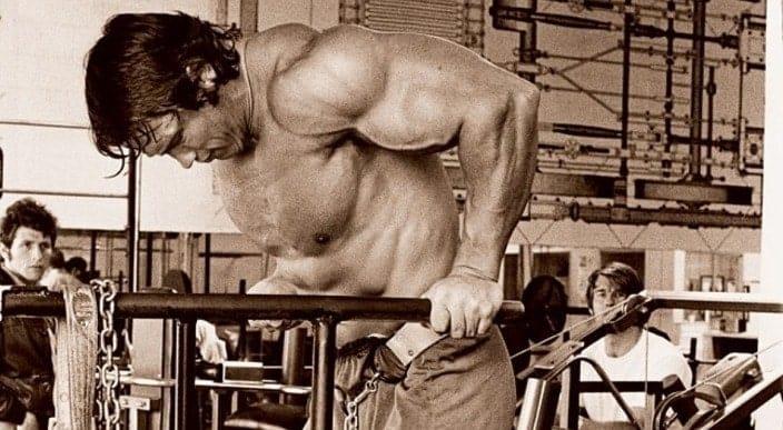 Treino de Peito do Arnold Schwarzenegger Paralelas