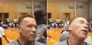 Chute Arnold Schwarzenegger leva chute no Arnold Classic África
