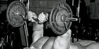 Extensão de Tríceps com Barra Arnold Schwarzenegger
