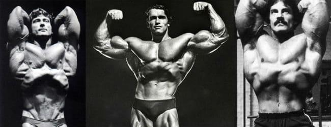 Stomach Vacuum Arnold Schwarzenegger, Frank Zane e Lee Haney