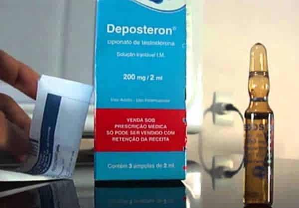 Quais os efeitos colaterais do Deposteron?